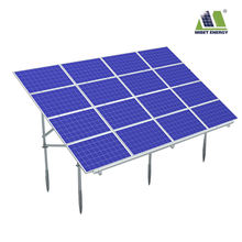 Light weight solution solar mounting systems bificial panel ground brackets