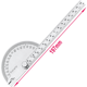 High quality 180 degree semicircular protractor angle ruler 0-145mm divider stainless steel gauge wood