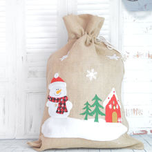 2020 Large loverly and cheap decorative Xmas Christmas Hessian Santa Sack  Frohe Weihnachten Gifts Bags decoration