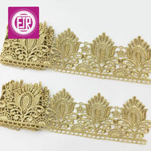 9.5cm wide gold lace trim, scalloped border lace trim, luxury style metallic lace