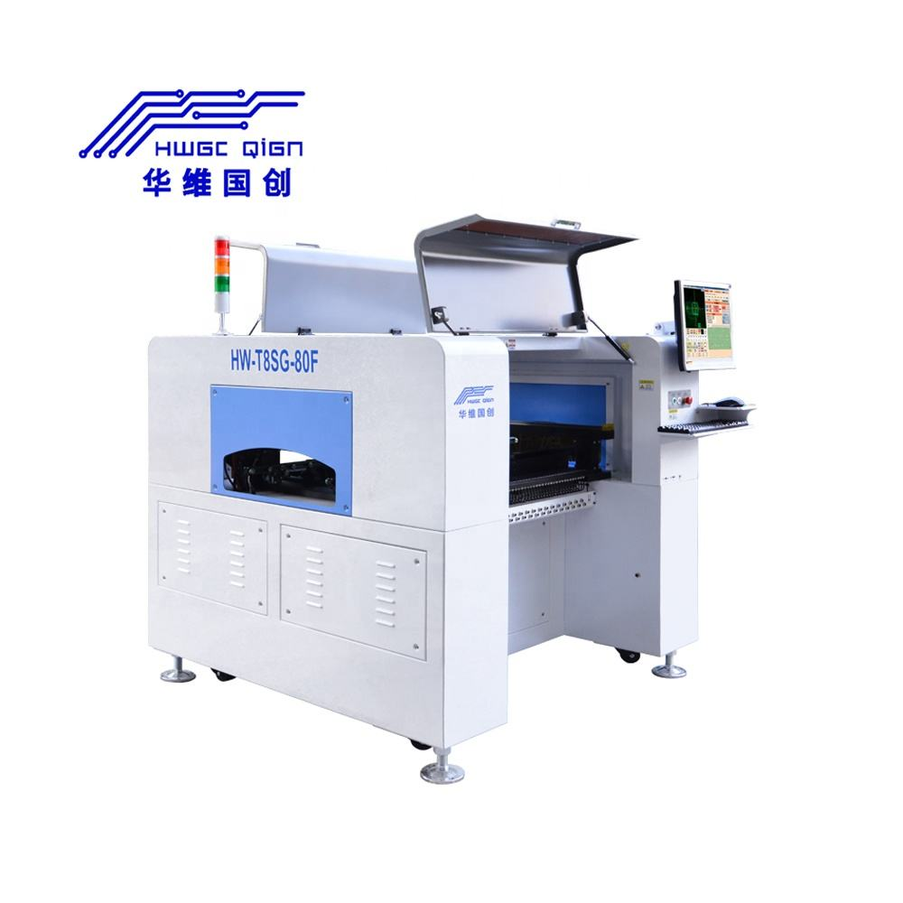 Vertical PCB Installation Pick Place Machine/ SMT Production Line Pick And Place Machine HW-T8SG-80F
