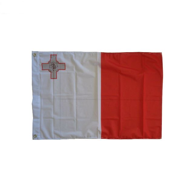 Hot sales High Quality Cheap Price Screen Printing 68D Polyester 150cm x 90cm 3x5ft Large Maltese Malta Flag