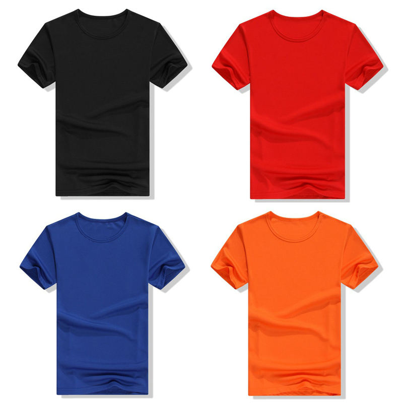 10 colors Mens cheap short sleeve t shirt 100% polyester custom t shirt printing with oem logo t shirt