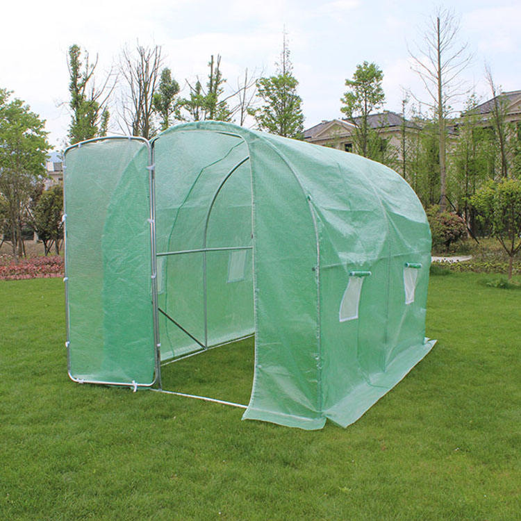 TLSP128 best new green house shape garden 200cm(L) x200cm(W)x200cm(H) agriculture polytunnel greenhouse with metal door