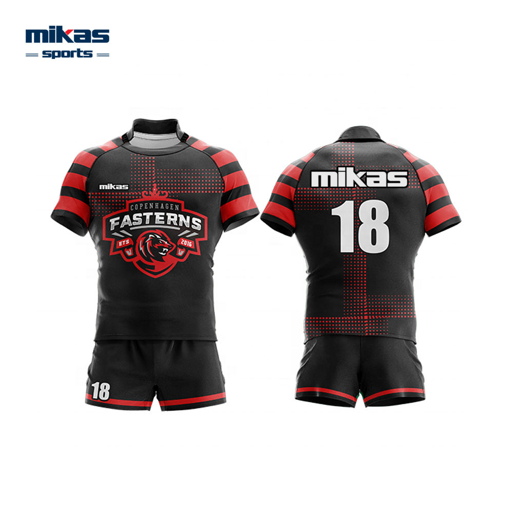 Custom round collar short sleeve rugby style tops rugby reversible jersey rugby uniform