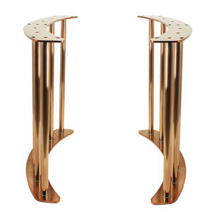 Decorative Polished Chrome Metal Table Legs Stainless Steel Gold Dining Table Base for Coffee