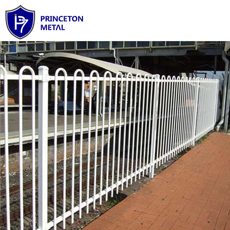 Decorative Metal Loop Top Tubular Welded Fencing Powder Coated Aluminum Fence Panel