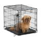 MidWest Fully Equipped Wholesale Cheap Homes Single Door Folding Iron Metal Dog Crates for large dogs
