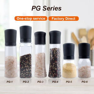 Pepper Salt Salt Pepper Plastic Hot Selling Plastic Manual Grinder Pepper And Salt