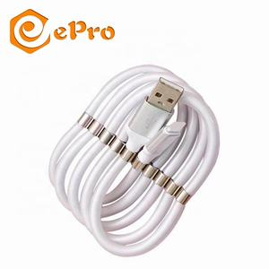 Magnetic Storage USB Data Cable 2.4A Quick charge Fast Charging Cord Mobile Phone Cable for iOS/iPhone/Micro/Type-C cable