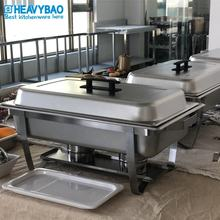 Heavybao High Quality Stainless Steel Commercial Economic Table Food Warmers Chafing Dish For Catering