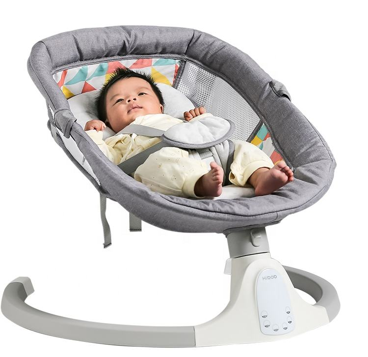 Adjustable Charging Remote Control Electric Baby Bouncer Swing Chair Infant Intelligent Toddler Soothing Cribs