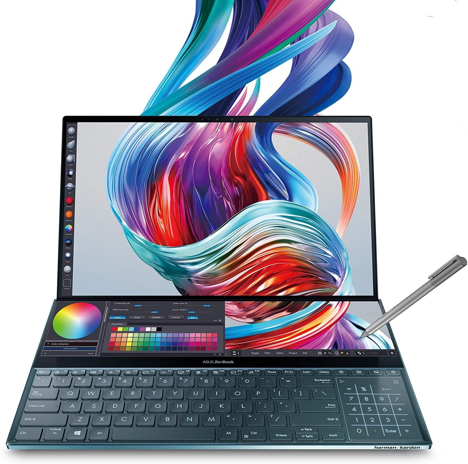 Brand New per ASU S ZenBook Pro Duo UX581 Del Computer Portatile 15.6 4K UHD NanoEdge Display <span class=keywords><strong>Touch</strong></span> Intel Core i9-10980HK 32GB di RAM 1TB SSD
