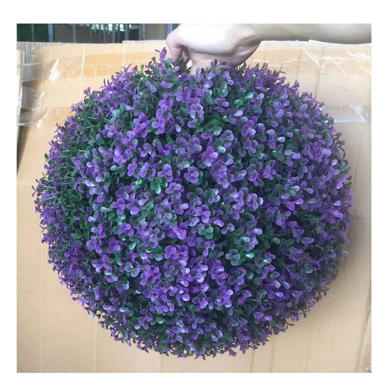 Outdoor giardino decorativo formato differente artificiale <span class=keywords><strong>viola</strong></span> desmodium foglie <span class=keywords><strong>palla</strong></span>, topiaria artificiale bosso <span class=keywords><strong>erba</strong></span> <span class=keywords><strong>palla</strong></span>