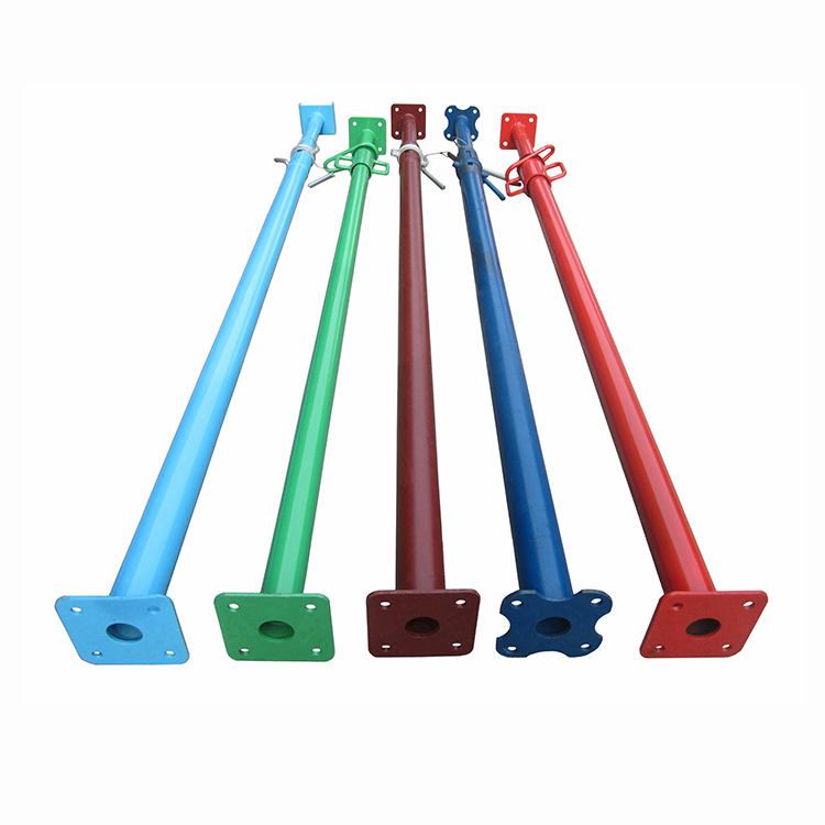 Hot Selling Construction Steel Props Formwork Material Adjustable Steel Prop Shoring Powder Coated Acrow Jack For Sale