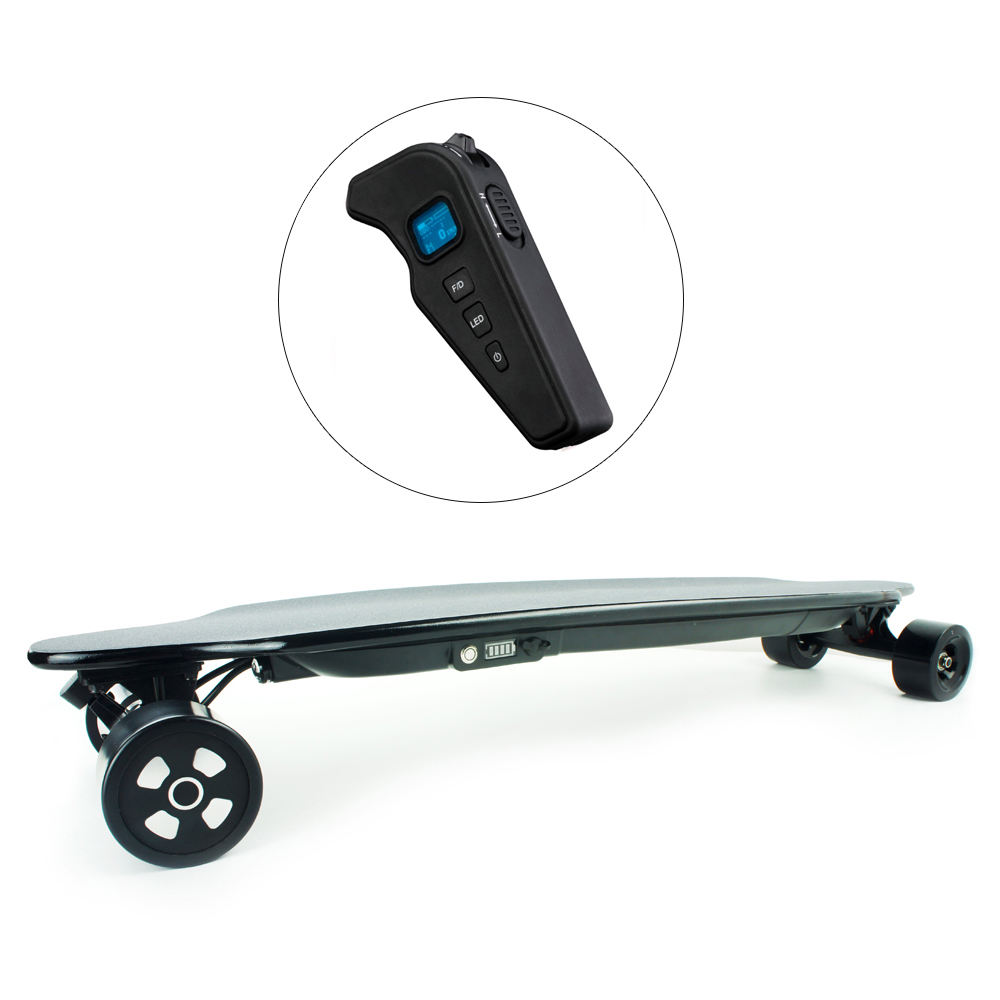 Electric portable 4 wheels drive elektric waterproof e motor powered long skate board