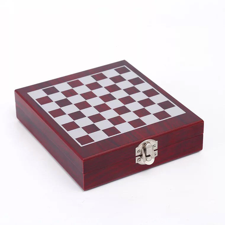 Wine Bottle Opener Set with Decanter in Chess Wooden Box with 4 pcs Accessories