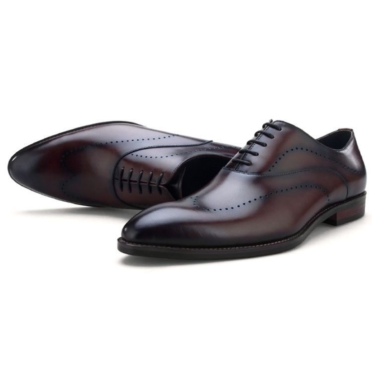 Party wear genuine leather dress shoes for mens leather pointed toe formal shoes plus size 42 43 44 italian men shoes officer