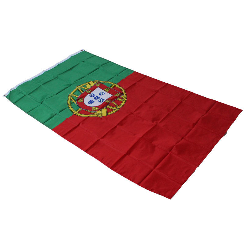 UEFA Eur o 2020 100%polyester 3x5 Foot Portugal Flag with Two Brass Grommets