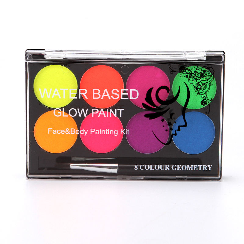8 Colors luminiscent paint Face Body Art Paint UV glow in the dark makeup Party Fancy Dress Beauty pintura face body paint