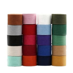 Multicolor water fireproof 2mm 30mm polyest fabric lashing self adhes 25mm shoulder flat bags strap polyester webbing strap