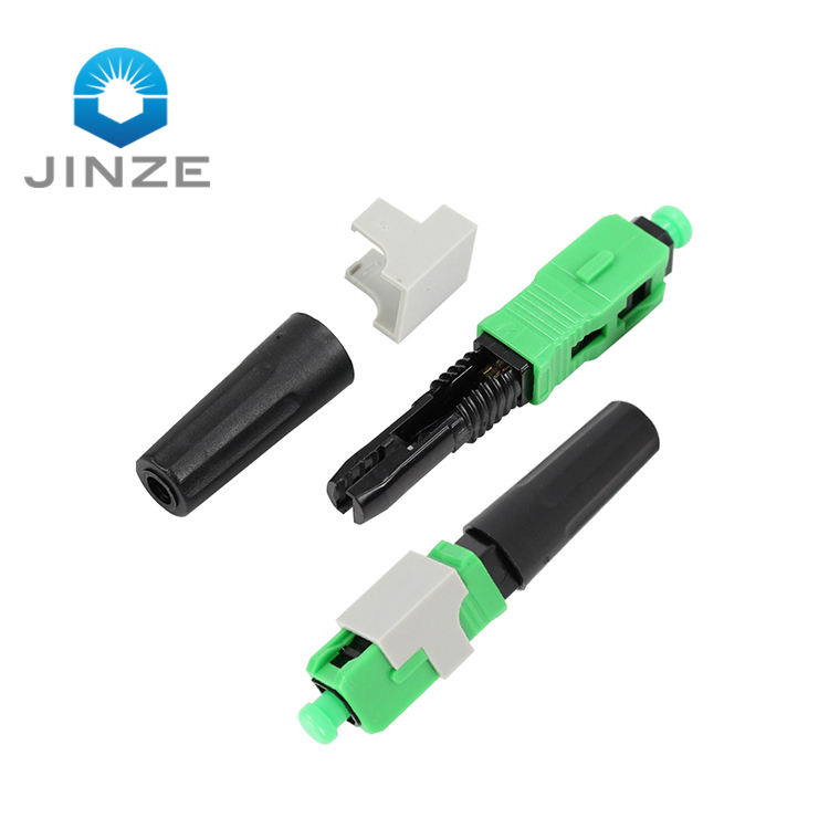 new type quick assembly single mode fiber connector fiber optic fast connector SC APC UPC optical fiber for ftth