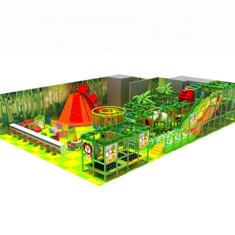 Fun Play Children Indoor Playground, Commercial Entertainment Center, Customized Indoor Playground Volcano