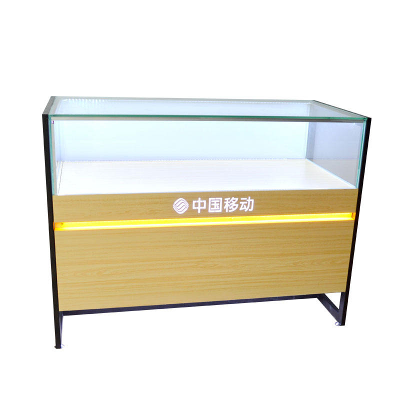 Hot design cell phone store furniture mobile phone glass showcase display cabinet for retail shop