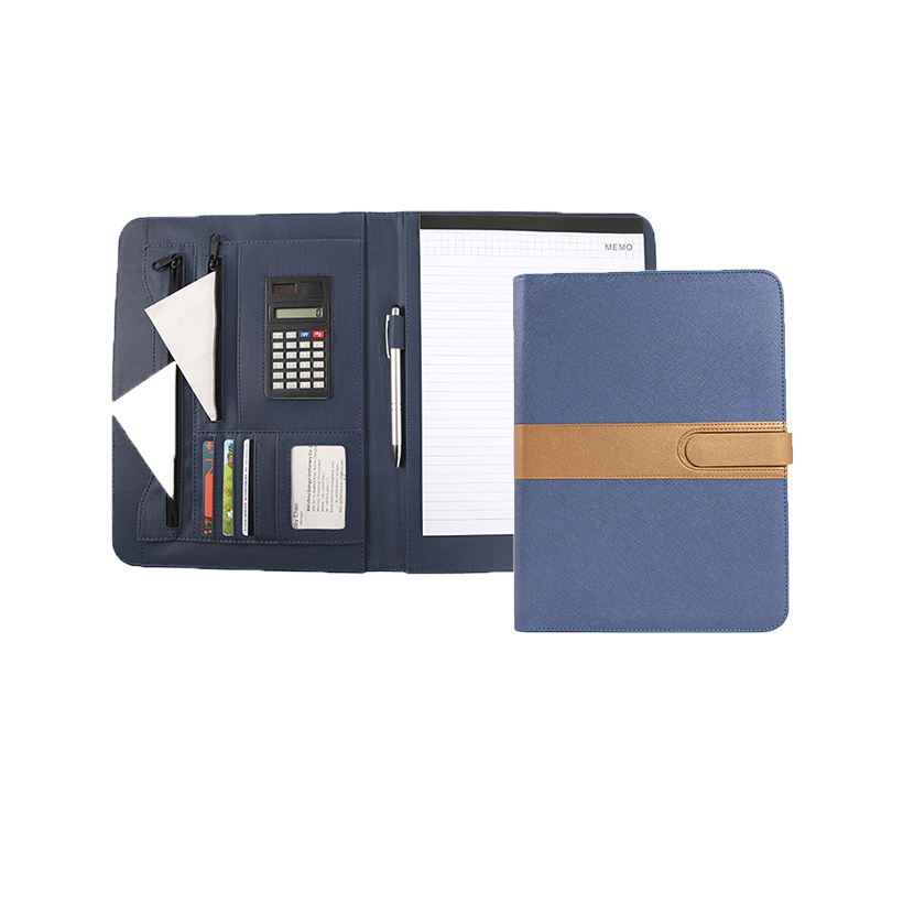 Top sale size a4 cute powerbank padfolio portfolio with clipboard
