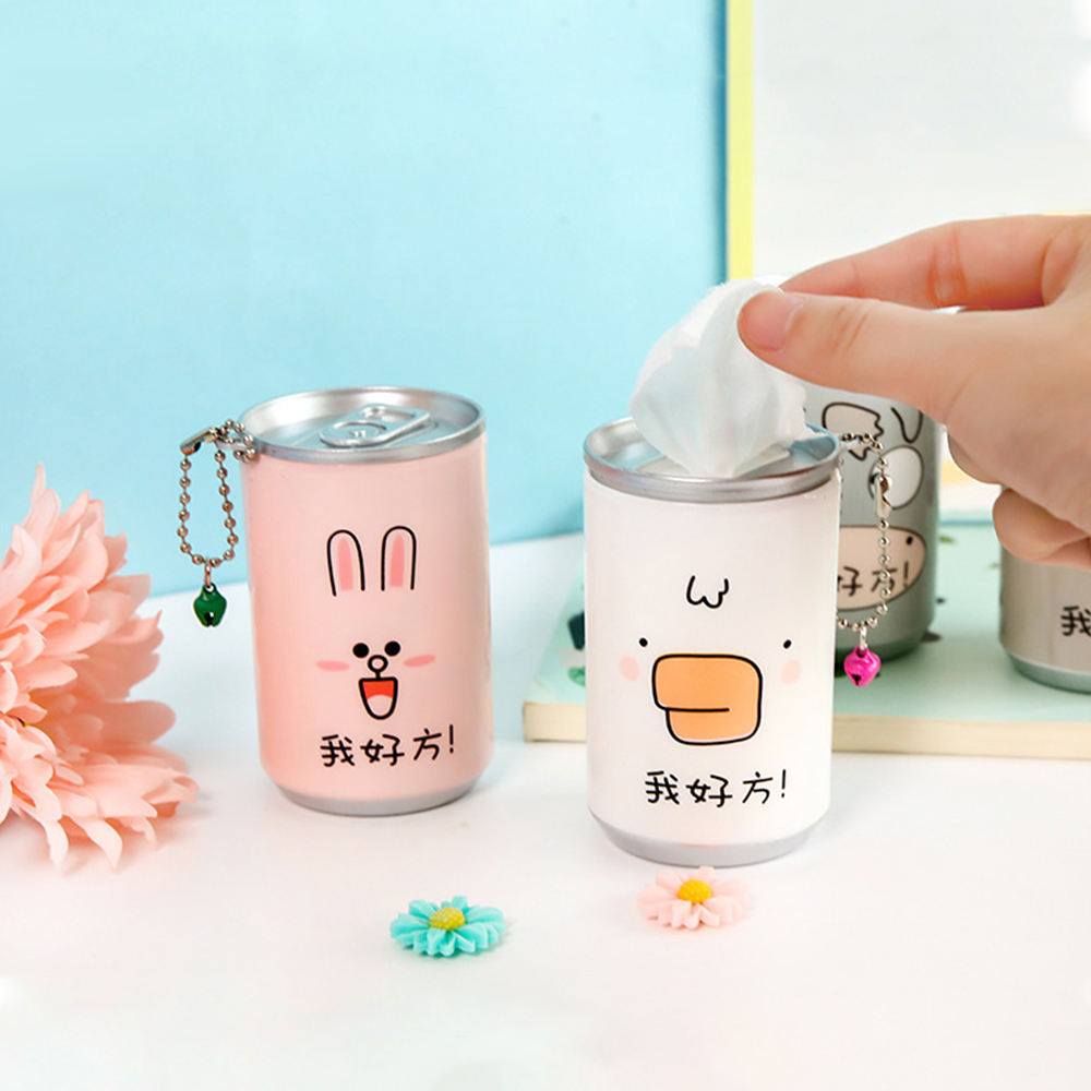 With Keychain 30pcs Canisters Wet Tissues Mini Carton Can Sanitary Skin Care Cleaning Wet Wipes