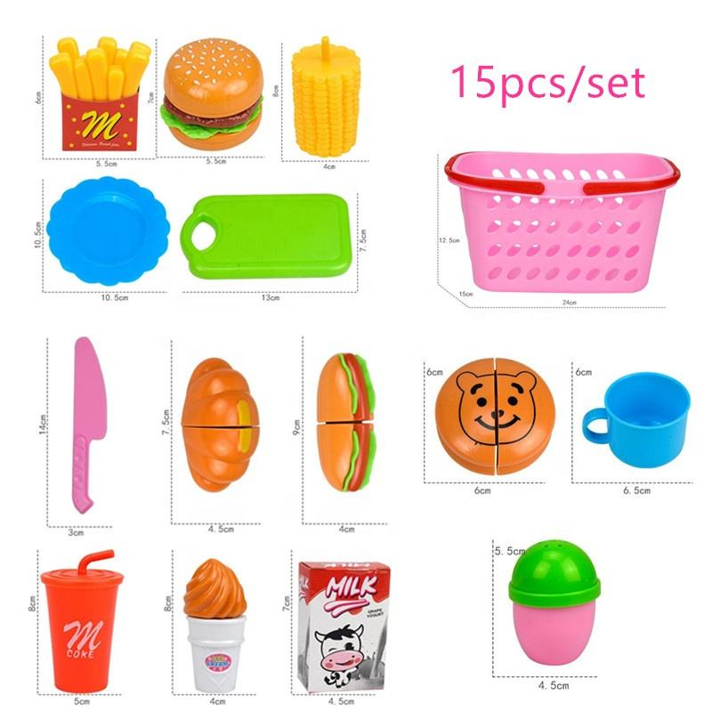 Educational Learning Toy Kids Cooking Fun Pretend Play Food Set