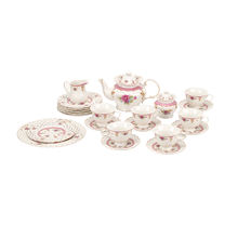 24 pcs Gold flower decal New bone china royal porcelain tea set