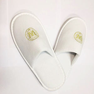 velvet material hotel slippers personalized custom logo