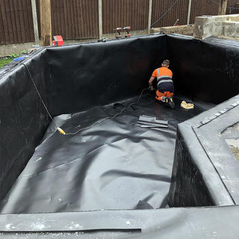 1Mm 15Mm Membrane Hdpe Smooth Plastic Polypropylene Geomembrane For Landfill Oil Tank And Fish Farm Pond Liner Philippines