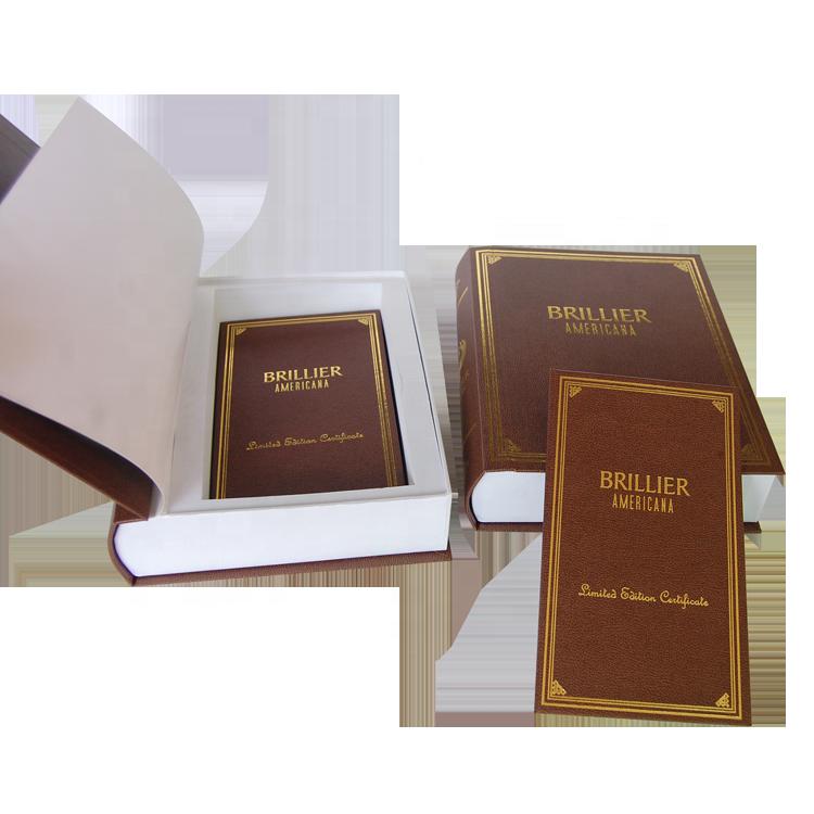 علبة كتب وهمية على شكل كتاب صندوق ورقي