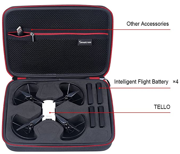 Professional Custom Mini Waterproof Handled Carrying Case For Tool Case Storage Box Protective EVA Foam Drone Case