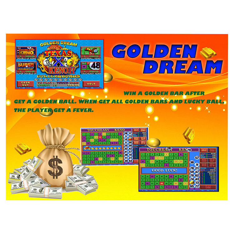 The latest popular GOLDEN DREAM casino machines to make money slot game cards