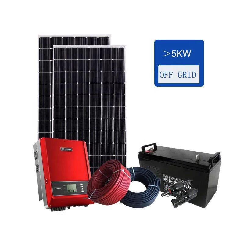 Integrated renewable solar energy power systems 3kw 5kw 10kw for off grid rural electrification of remote area
