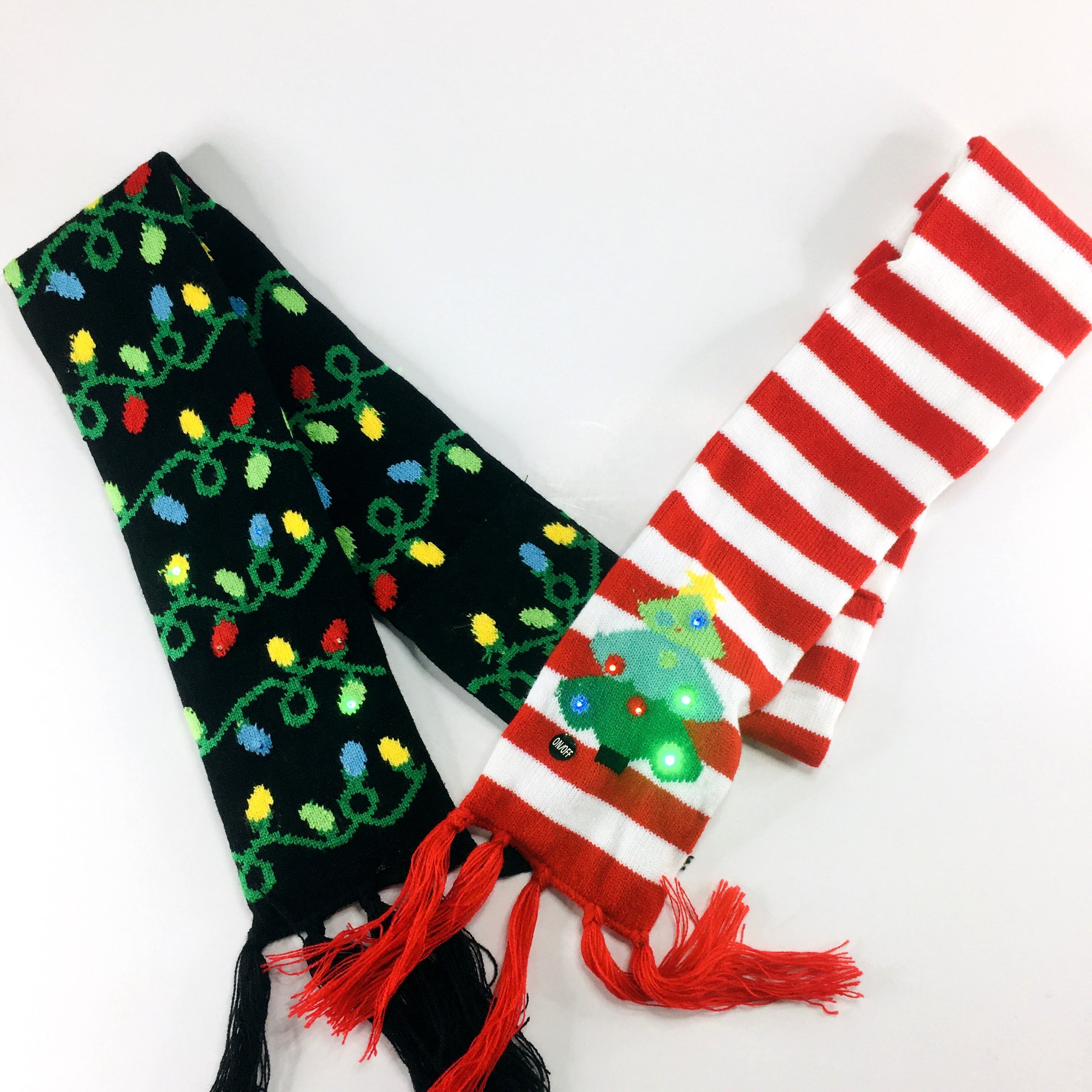 Christmas Ugly Sweater Party Christmas LED Scarf