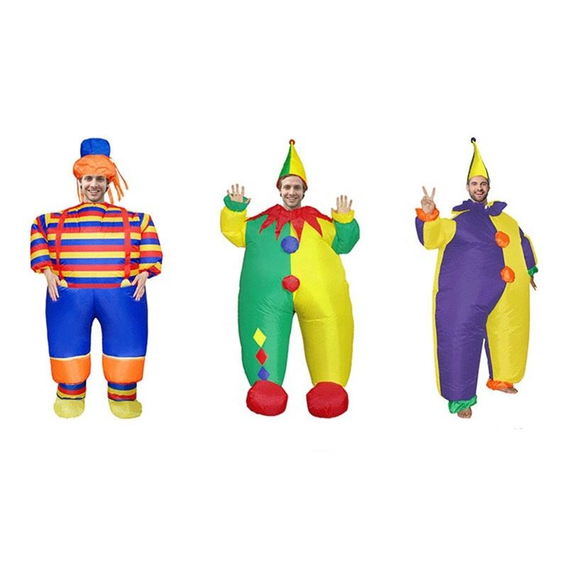 Nouveau Parti Carnaval D'explosion Air Gonflable Adulte Halloween Cosplay Costume de <span class=keywords><strong>Clown</strong></span>