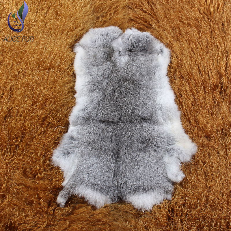 2019 Fashion 37*27cm or custom size Genuine full skin rabbit fur from Factory
