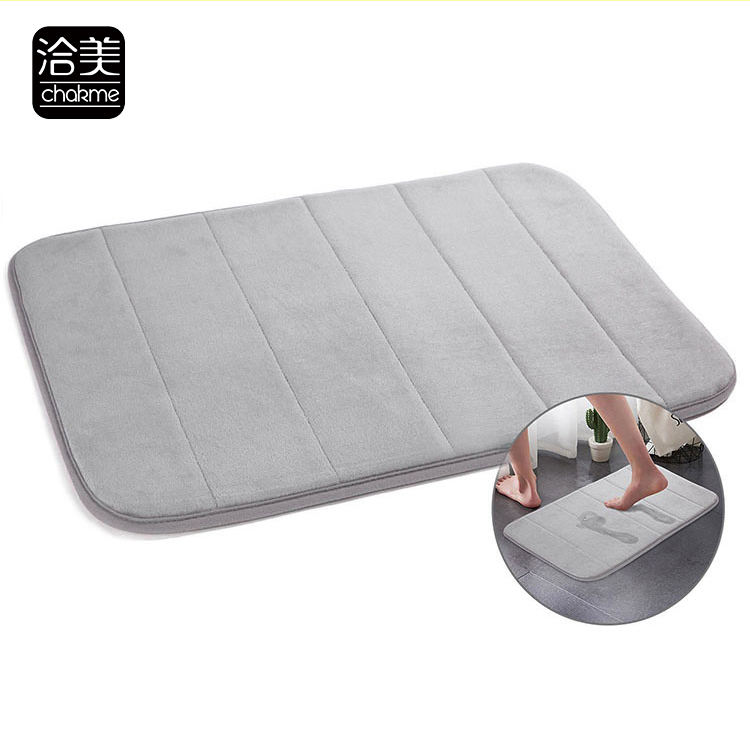 Washable Design Absorbent Waterproof Door Bay Window Kitchen Bathroom Bath YiWu Memory Foam Bathmat Doormat Carpet Rug Mat