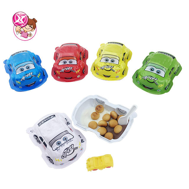 Small Car shape Surprise Egg Chocolate Biscuit With Assorted Toys