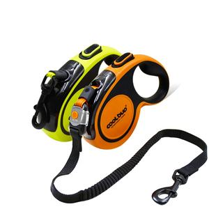 Custom Heavy Duty Extra Bungee Extendable Pet Reflective Nylon Walking Retractable Dog Leash For Large Medium Small Breeds