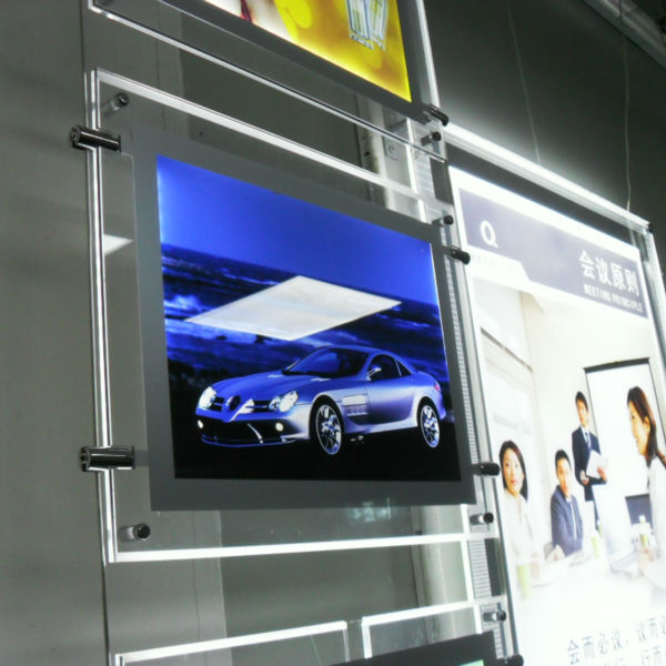 hanging acrylic window display decoration photography light box for menu board