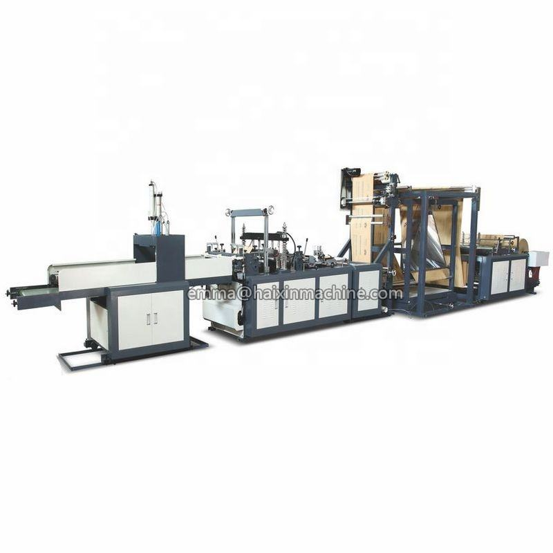 Full automatically high speed non woven fabric carry pouch cutting bag making machine price