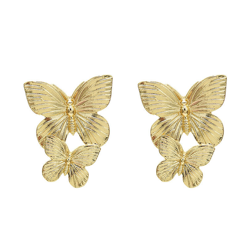 Big official website with the same wholesale earrings new butterfly earrings street fashion popular earrings