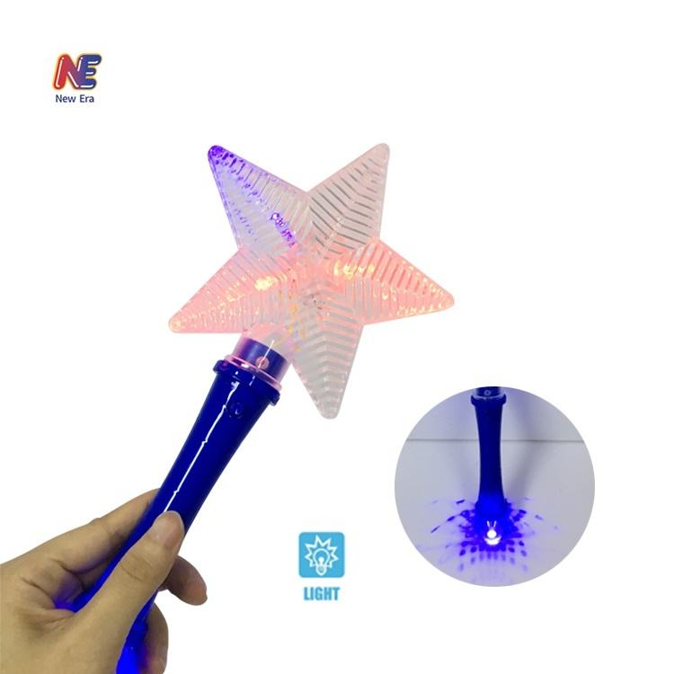 LED Light Up Toys Magic Wand Star Stick Glow in The Dark Party Supplies