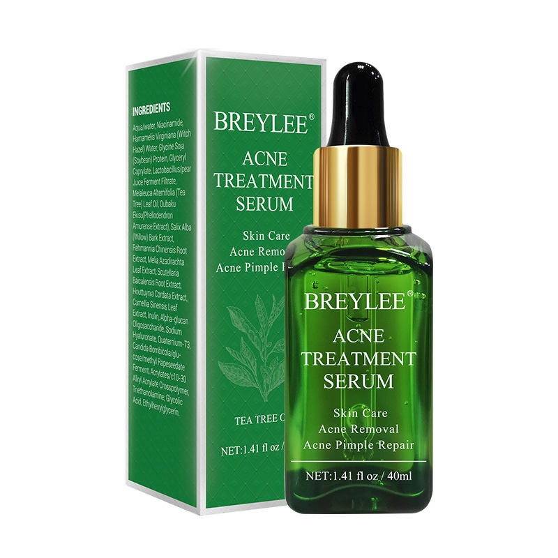 40 ml BREYLEE tea tree acne trattamento a base di erbe acne pimple remover siero anti
