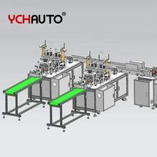 Highly Speed 3ply flat face mask making machine fully automatic mask production line